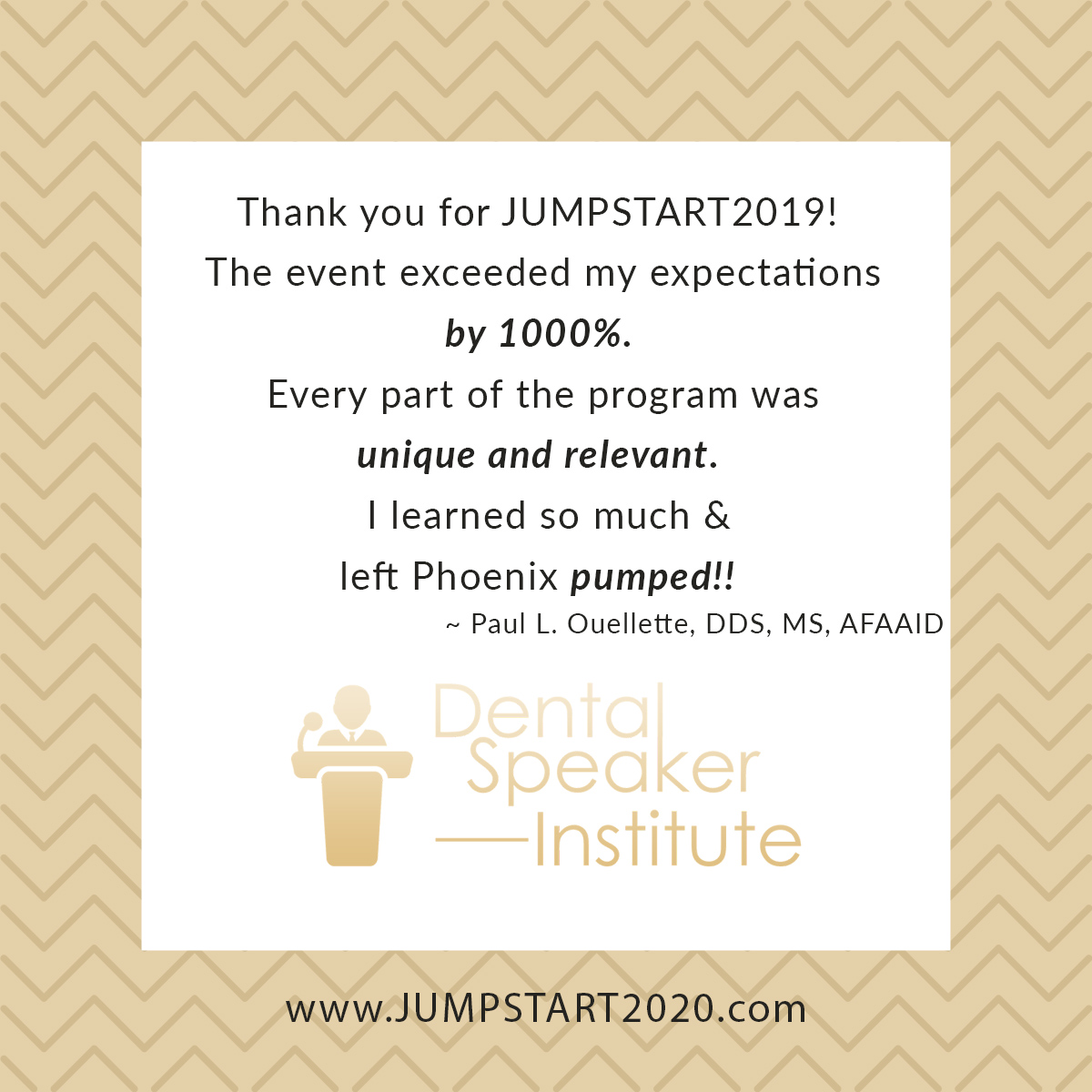 Ronni Brown review on Jumpstart Meeting in Arizona