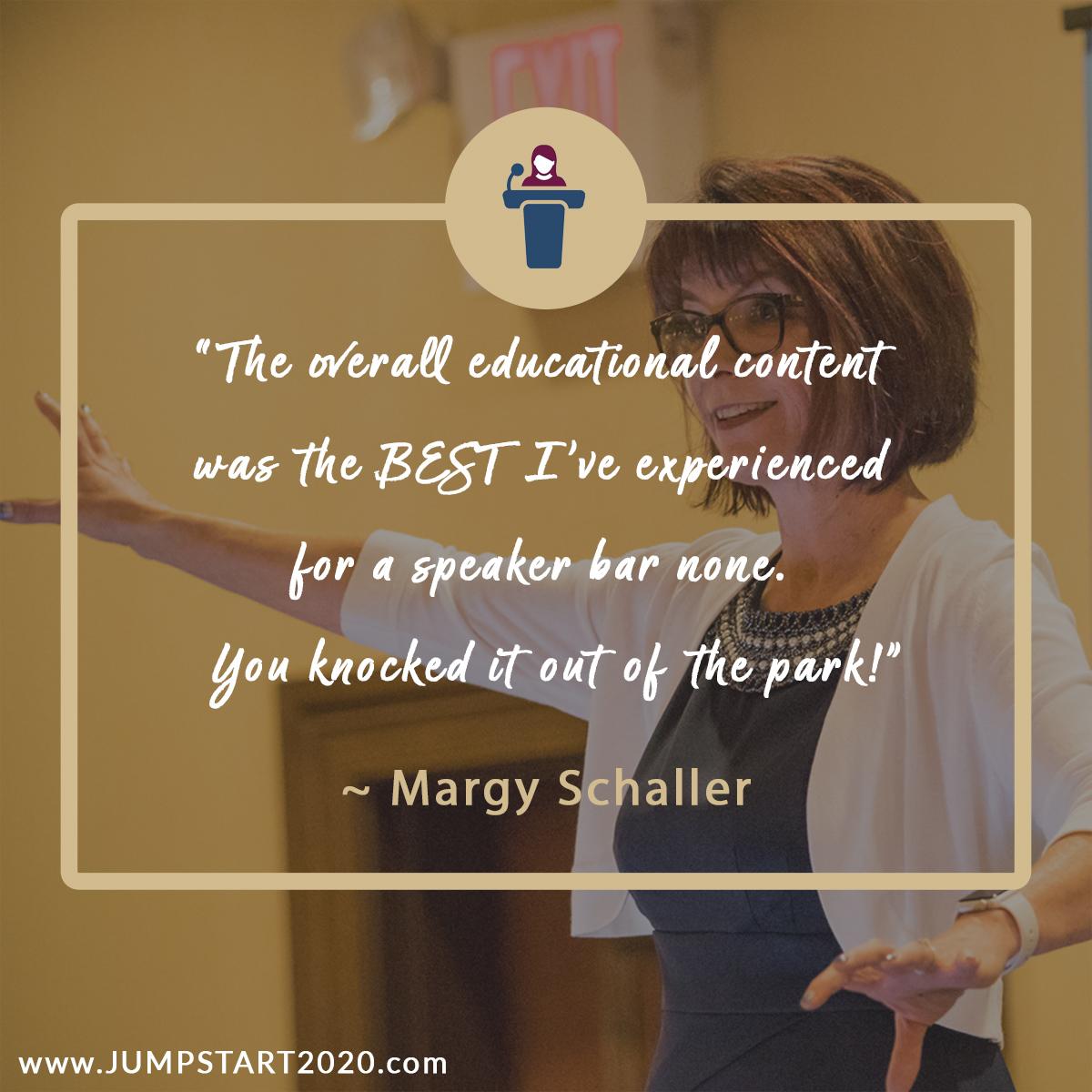 Margy Schaller review on Jumpstart Dental Meeting